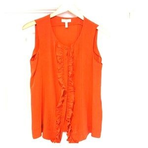 Silk blouse vest with silk covered buttons